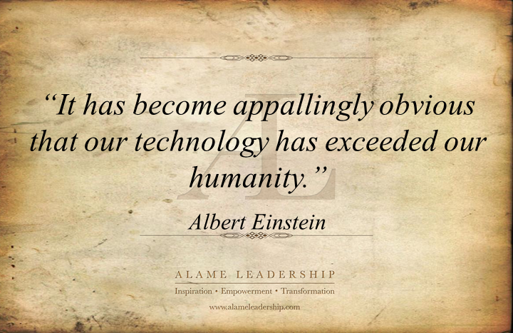 it has become appallingly obvious that our technology has exceeded our humanity Technology and its overpowerment as albert einstein once said it has become appallingly obvious that our technology has exceeded our humanity throughout the years our technology has become more and more advanced, creating more and more inventions.